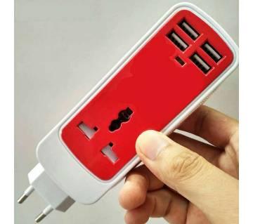 5 In 1 ডুয়াল USB পোর্ট ইউনিভার্সাল সকেট