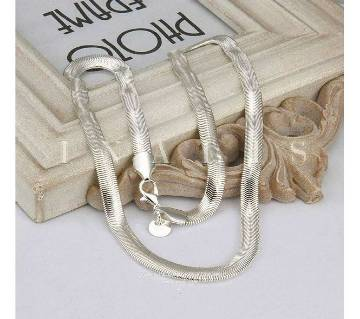 Silver Plated 6mm Snake Pendant chain