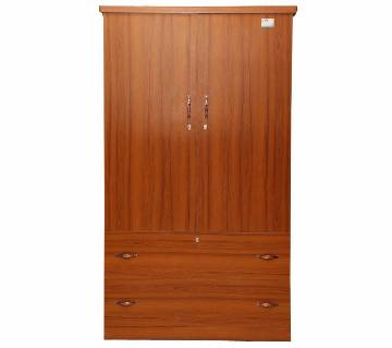 Dual door and drawer melamine board Almirah
