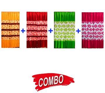 Sartin Print Curtain 4 Color Combo Offer