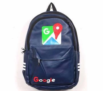Google প্রিন্টেড আর্টিফিশিয়াল লেদার ব্যাকপ্যাক