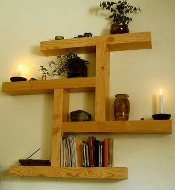 zigzag Hanging Shelf