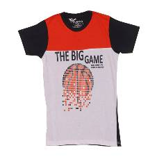 বয়েজ The Big Game হাফ স্লিভ কটন টি-শার্ট