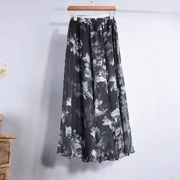 Stitched Georgette Skirt