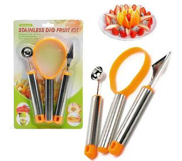 Fruit and vegetable curving tools