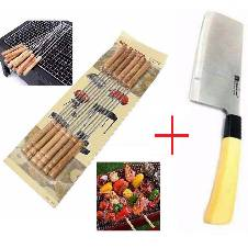 12 pcs barbecue stick + mixing knife