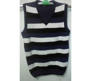 Mens V-Neck Half Sleeve Sweater