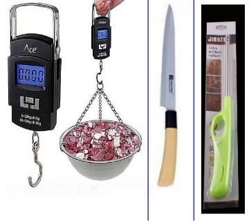 Portable Digital Wet Scale + Kitchen Wooden Handle Small Slim Nifty + Kitchen Gas Lighter
