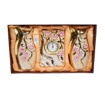 Ceramic Flower Vase With Clock