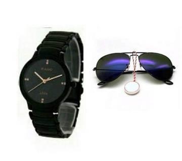 RADO Watch copy & Ray Ban Gents Sunglasses Combo Copy