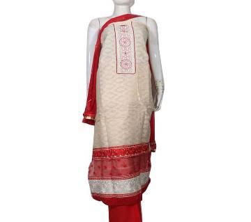 Unstitched cotton salwar kameez for women