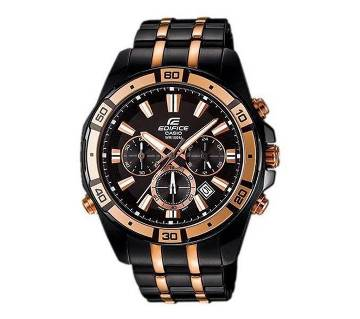 Casio Black Stainless Steel Chronograph Wrist Watch