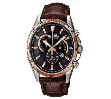 Casio Brown PU Leather Wrist Watch For Men
