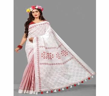 Cotton  Print Saree With Blouse Piece