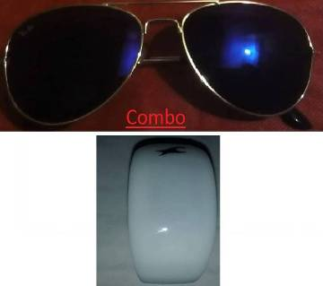 Ray Ban sunglasses for men copy and LED digital watch combo
