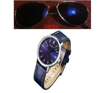 Ray Ban sunglasses for men copy and CURREN gents watch combo