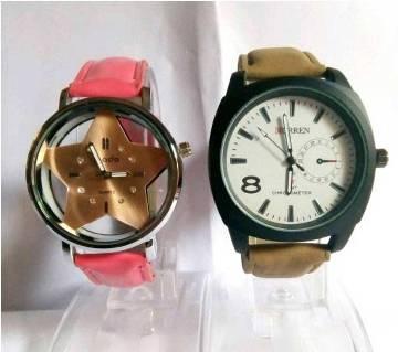 CURREN Gents Watch + Ladies Wrist Watch