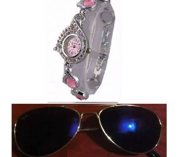 Ray Ban sunglasses for men copy peacock pride ladies watch combo