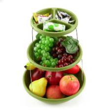 Three Tiers Twistfold Party Bowls - Green