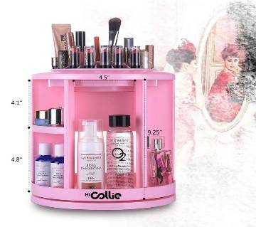 360º Rotating Cosmetic Storage Box - Pink