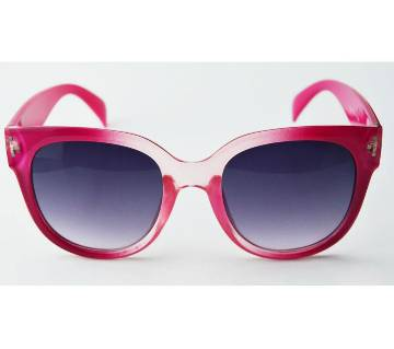 pink frame with navy blue shed sunglass for women