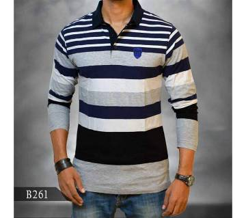 Long Sleeve Polo Shirt for Men (B261)
