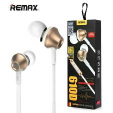 REMAX 610D In-Ear Headphone - White and Golden