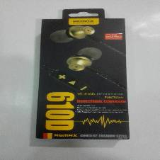 REMAX 610D In-Ear Headphone - Black and Golden