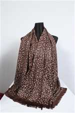 Coffee Color Pasmina Silk Shawl