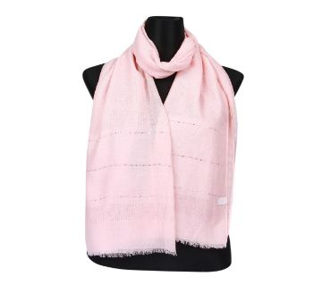 Pink Soft Cotton Sequins Hijab/Scarf For Women
