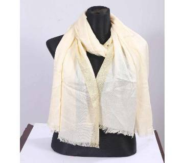 Off White Pashmena Hijab for Women