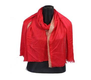 Red Pashmena Hijab for Women