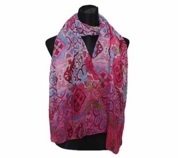 Multi Color Cotton Print Hijab for Women
