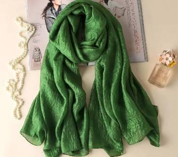 Green Silk Hijab For Women