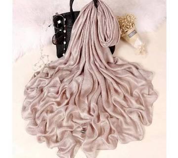 Golden Pink Silk Hijab For Women