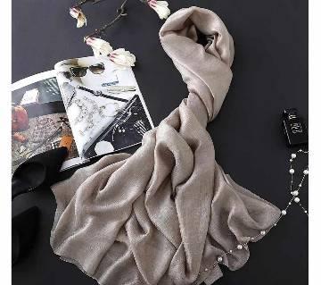 Gray Silk Hijab For Women