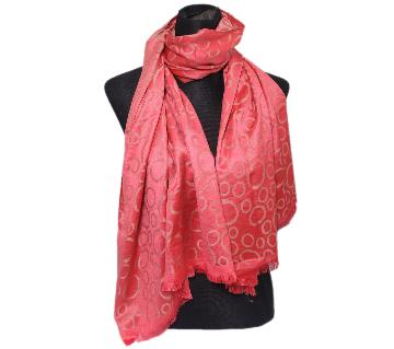 Red Silk Hijab For Women