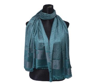 Steel Blue Silk Hijab For Women