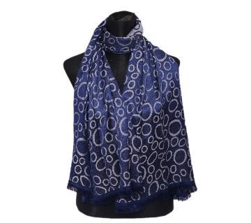 Navy Blue Silk Hijab For Women