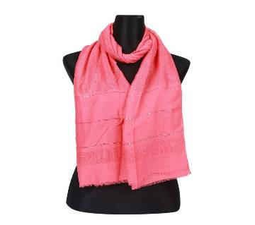 Hot Pink Cotton Sequins Hijab/Scarf For Women