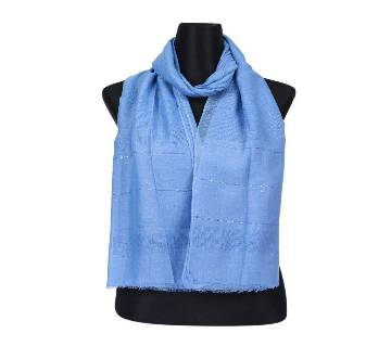 Blue Soft Cotton Sequins Hijab/Scarf For Women