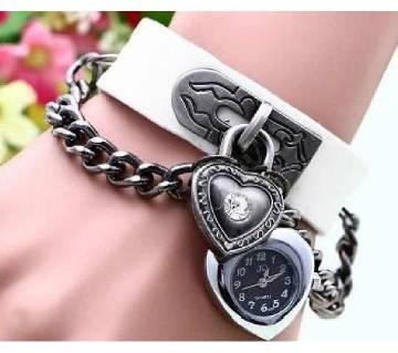 Heart shaped ladies bracelet watch