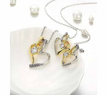 Silver and Golden Zinc Alloy Jewellery Set for Women