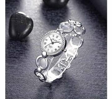 Silver Alloy Bracelet Watch for Women