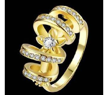 Gold Plated Zircon Finger Ring