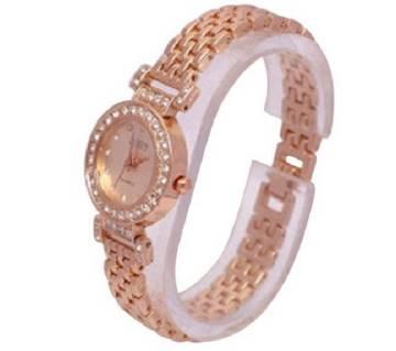 Stone setting wrist watch