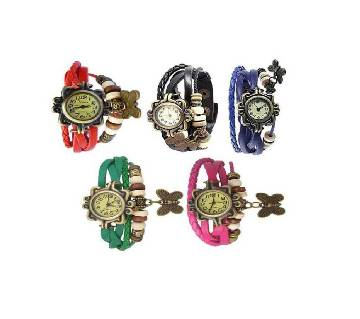 Leather Butterfly. Watch for Women( 5 pcs) Combo