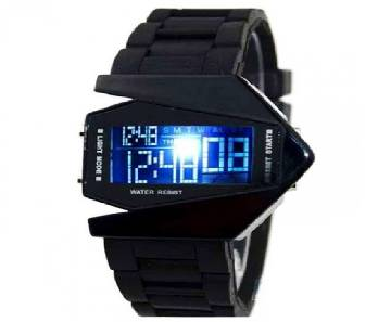 LED fighter watch- black