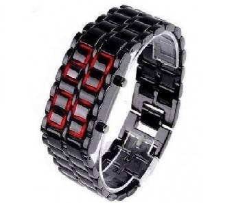 LED samurai watch-black
