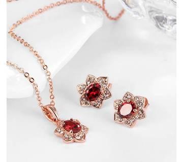 Stone setting jewellery set
